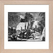 The Threshing Machine 2 block 2 state 1 - Ready Framed